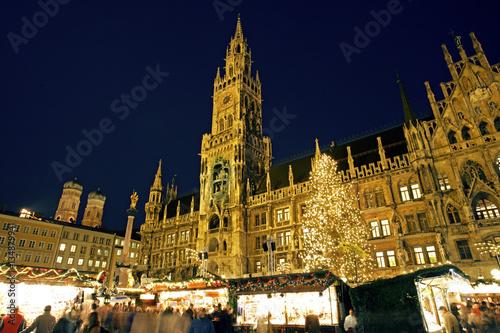 München Weihnachtsmarkt.Weihnachtsmarkt In München Am Marienplatz Bayern Deutschland