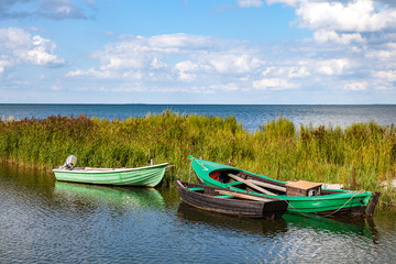 Fishing wooden boats, Baltic sea, Estonian island