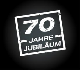 70 Jahre jubilaeum stempel