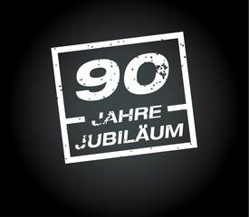 90 Jahre jubilaeum stempel
