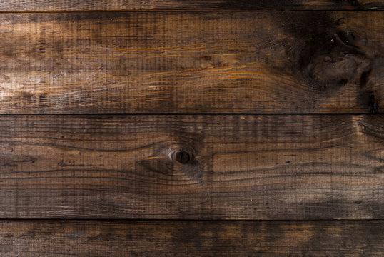 Dark wooden planks background, pine