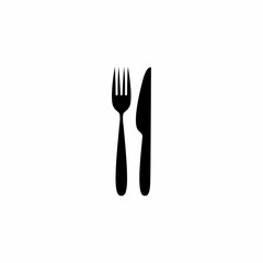 Fork knife icon vector design isolated on white background