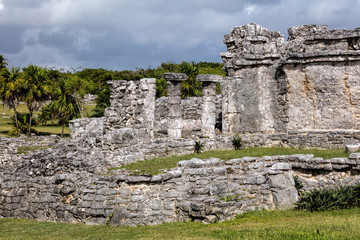 Ancient Mayan House of the Columns in Tulum, Quintana Roo, Mexico