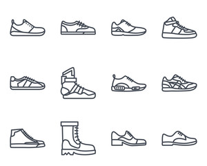 Sneakers Shoes Line Icon