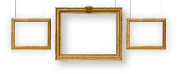 Set gilded picture frames