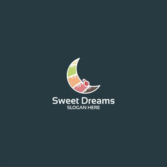 Sweet dream logo vector illustration