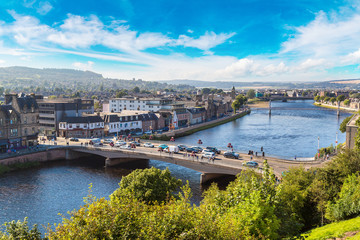 Cityscape of Inverness, Scotland