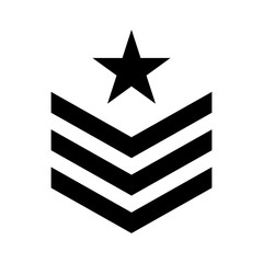 Military symbol icon image, vector illustration design