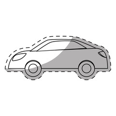 White drive car icon image, vector illustration