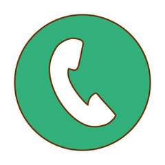 Green symbol phone image design, vector illustration icon