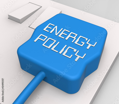 "First Energy Stock Quote: ""Energy Policy Plug Shows Utility Guide 3d Rendering"