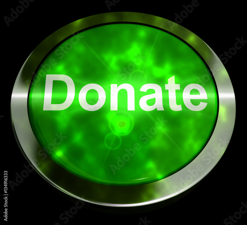 quotdonate button in green showing charity 3d rendering