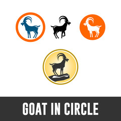 PERFECT GOAT LOGO, image isolated