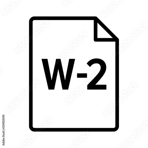 W 2 Or W2 Irs Tax Form Document Line Art Vector Icon For Finance