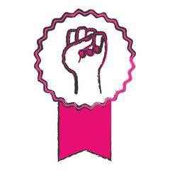 fist feminism related icons image vector illustration design