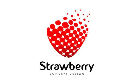 Strawberry Logo Design. Red Strawberry Icon