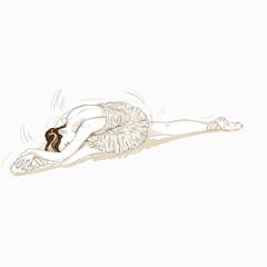 ballerina che fa una spaccata di danza