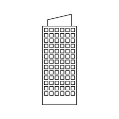 city building icon image simple black line  vector illustration design