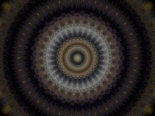 Circle extruded mandala
