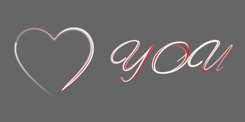 Vector illustration of a declaration of love Valentine s Day
