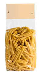 Pasta bag with lable