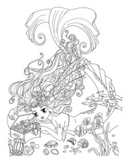 Coloring page The Mermaids