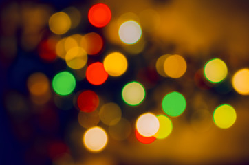 Color christmas lights holiday background