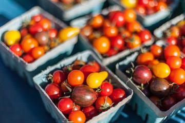 cherry tomatoes in farmer's market