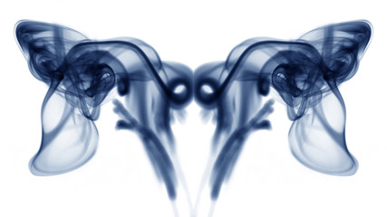 Abstract composition with smoke shapes
