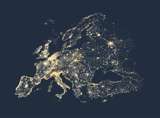 Search photos city lights at night europe city and communication lights map vector illustration gumiabroncs Choice Image