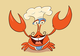 chef crab welcome you