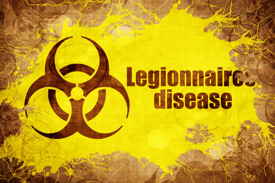 Grunge vintage Legionnaires disease