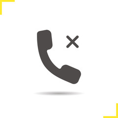Rejected call icon