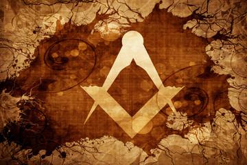 Grunge vintage freemason symbol