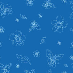 Abstract seamless pattern of cute hand painted flowers ?