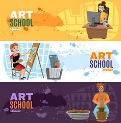 Art School Banners Set