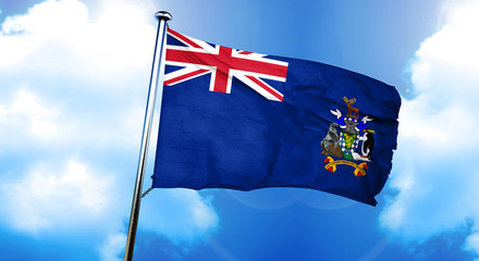 South georgie and the sandwich islands flag, 3D rendering