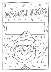 Fasching Plakat
