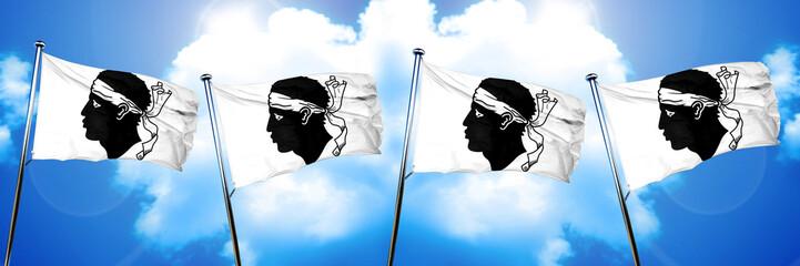 corsica flag, 3D rendering