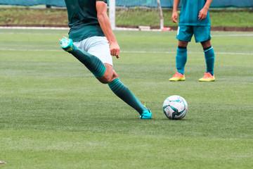 Soccer, shoot scene