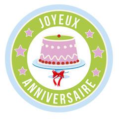 Joyeux anniversaire gâteau