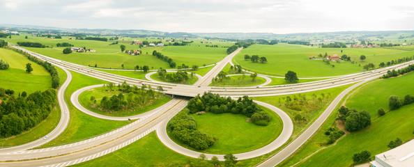 Autobahnkreuz, Luftbild