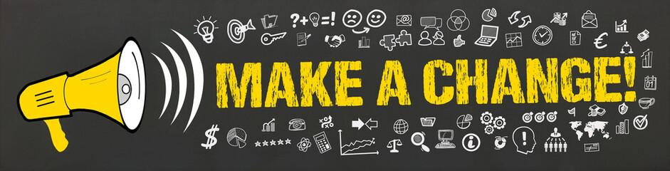Make a Change! / Megafon mit Symbole