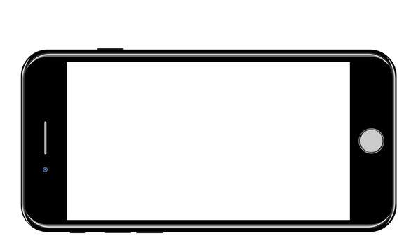 Brand new realistic mobile phone black smartphone vector illustration eps10