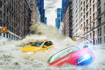 Flood in the city - Hochwasser in der Großstadt