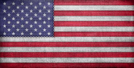 American flag, glat grunge on fabric