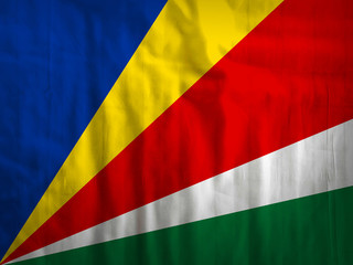 Seychelles flag fabric background
