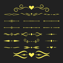 Collection of vector dividers