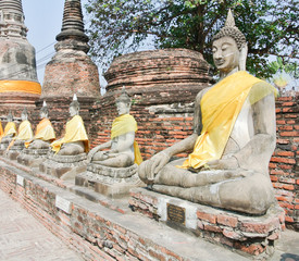 Wat yai chai mongkhon is a Buddhist temple in Ayutthaya, Thailand