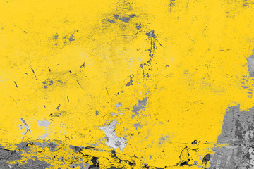 Yellow vintage wall, background, texture Fototapete